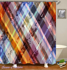 multi-colored-checkered-shower-curtain
