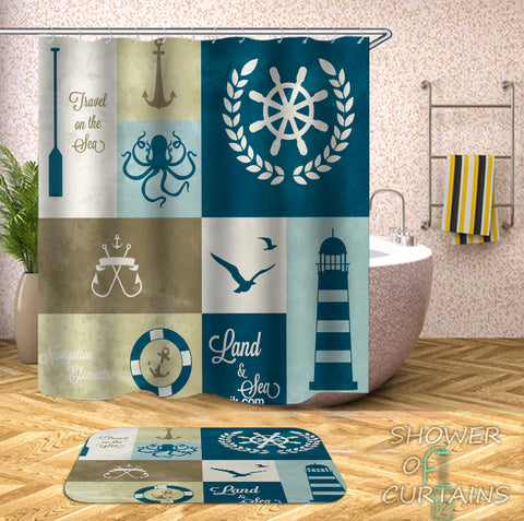 Nautical Shower Curtains Theme