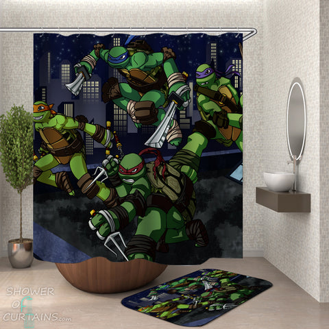 Ninja Turtles Shower Curtain