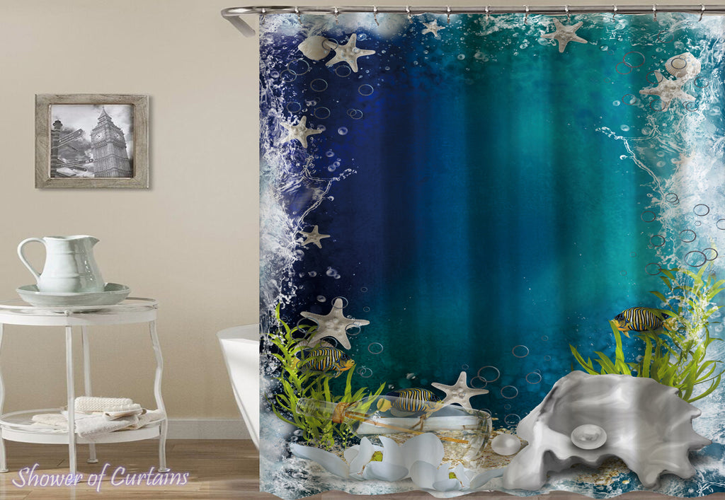 Ocean's Bottom shower curtain theme