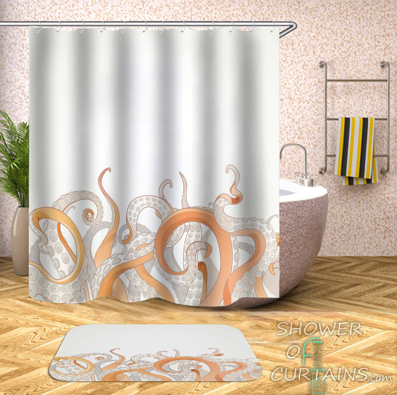 Octopus Shower Curtain of Wild Octopus' Arms