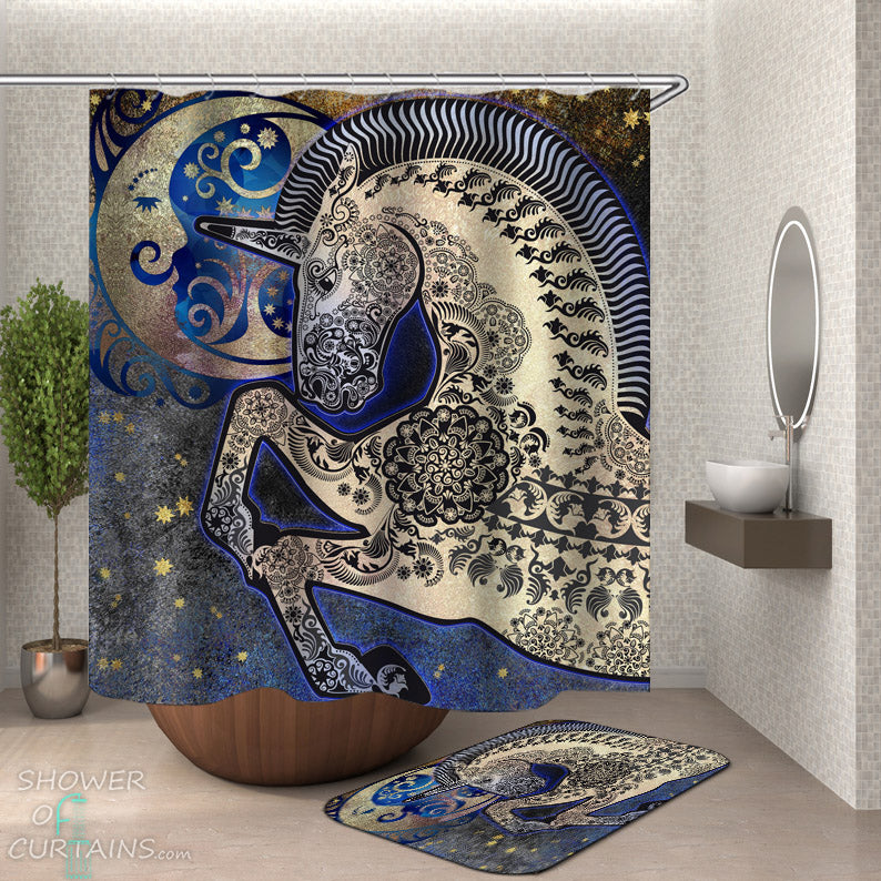 Oriental Unicorn Shower Curtain