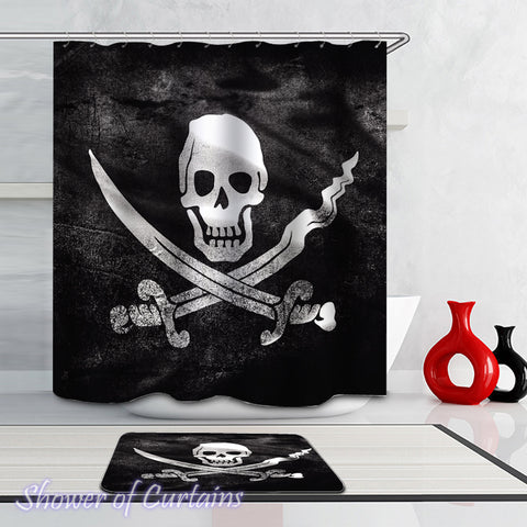 Pirate Flag Shower Curtains Theme