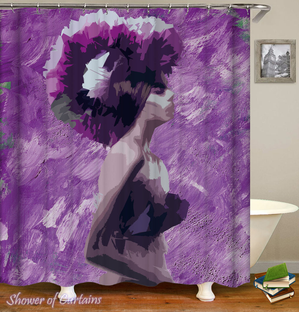 Purple Shower Curtain - The Purple Lady