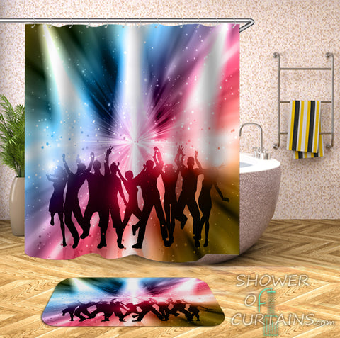 Retro Shower Curtain of The 80' 90' Disco Shower Curtain