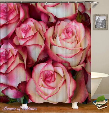 Rosy Roses Shower Curtain - Floral