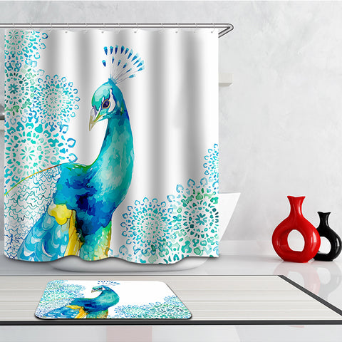 Royal Peacock shower Curtain