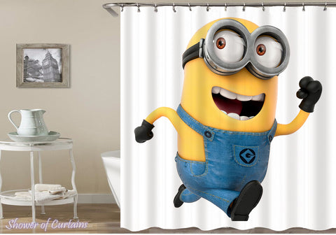 Running Away Minion | Kids shower curtain