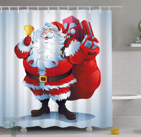 Santa Shower Curtain - Santa Is Here!