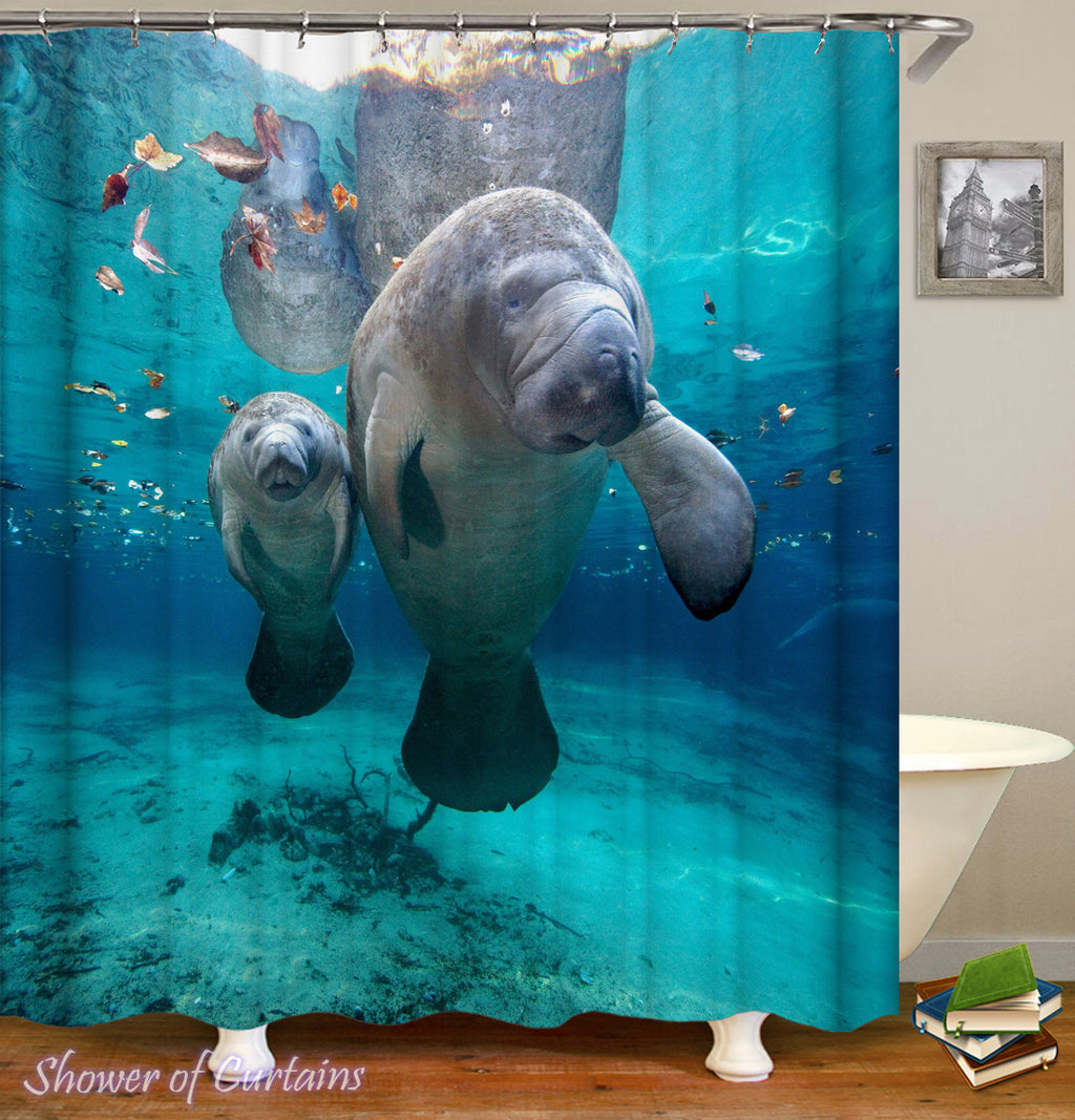 Sea Cows - Animal shower curtain