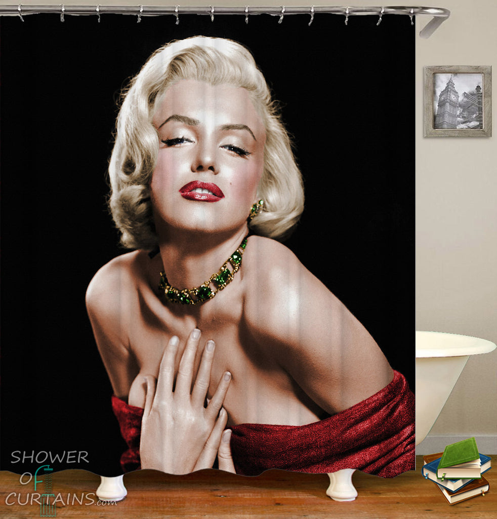 Sensual Marilyn Monroe Shower Curtain
