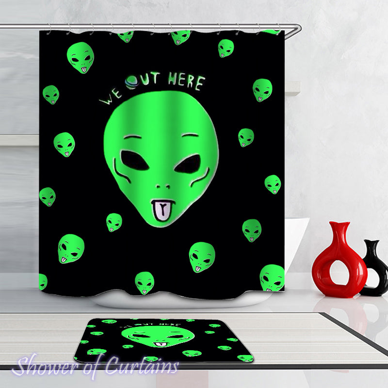 Shower Curtains of Aliens