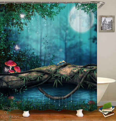 Shower Curtains with Fairytale Forest
