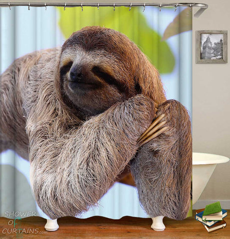 Shower Curtains with Sleepy Sloth