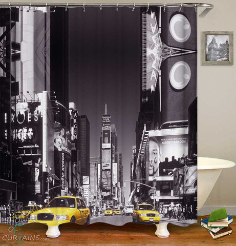 Shower Curtains with Times Square New York