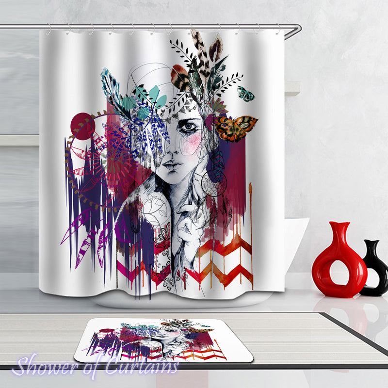 Shower Curtain Of Art Work The Native American