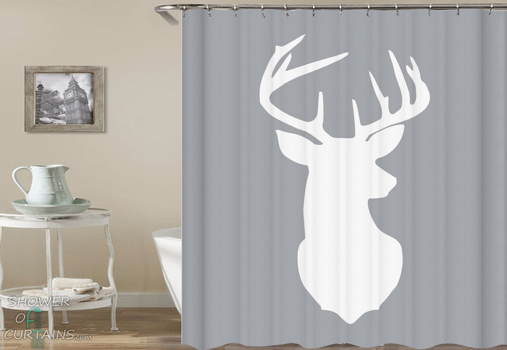 Shower Curtain of Deer Head Shape