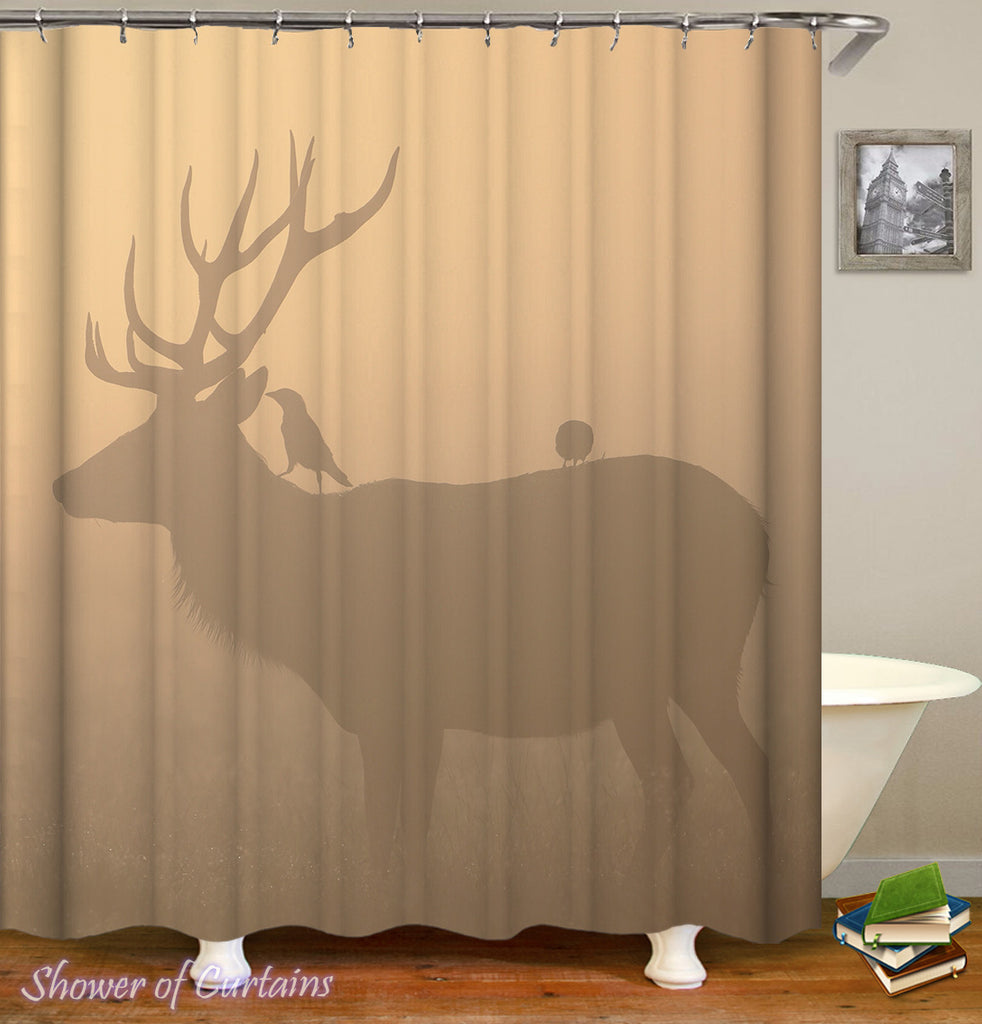 Shower Curtain of Deer Shadow