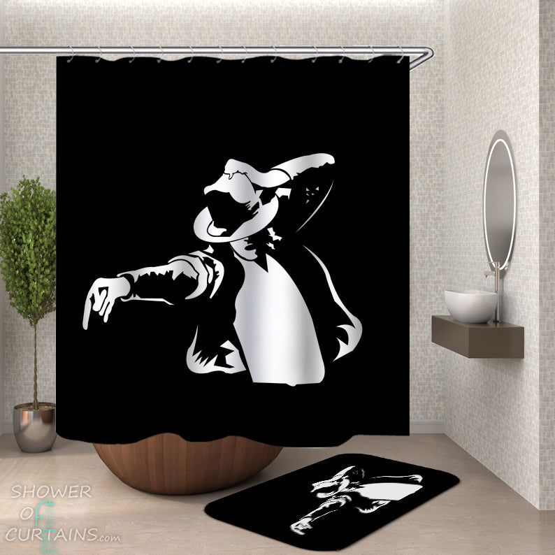 Shower Curtain of Michael Jackson Move