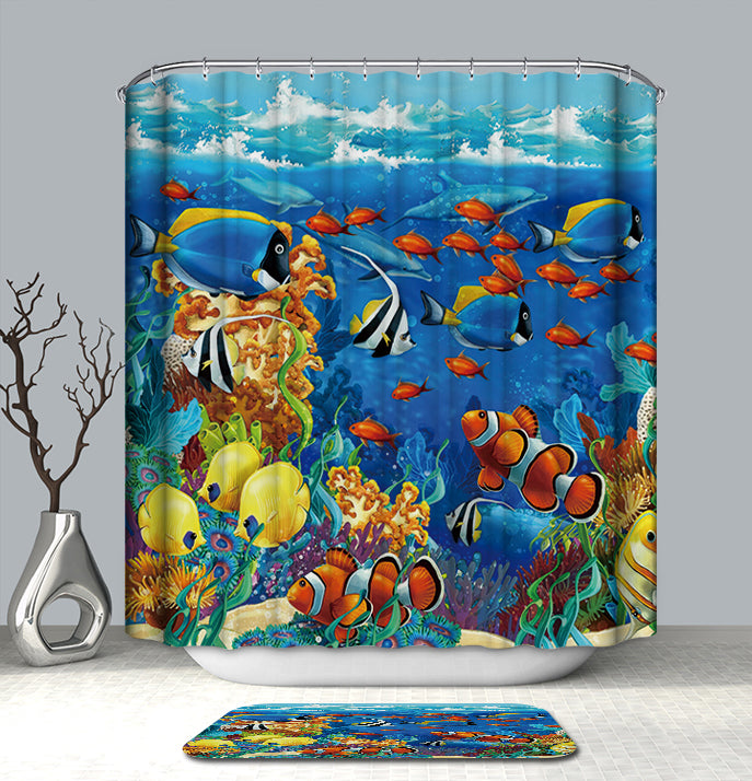 Shower Curtain of Overbooked Reef