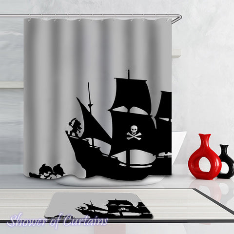 Pirate Ship Shower Curtains design