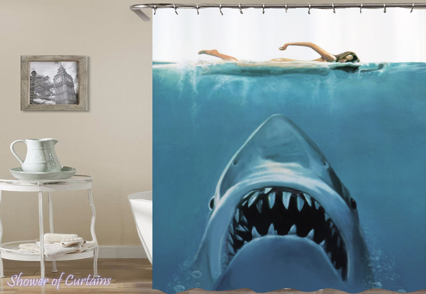 Shower Curtains | Shark Attack! – Shower of Curtains