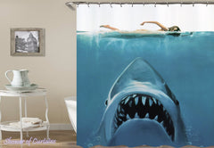 shark-attack-shower-curtains
