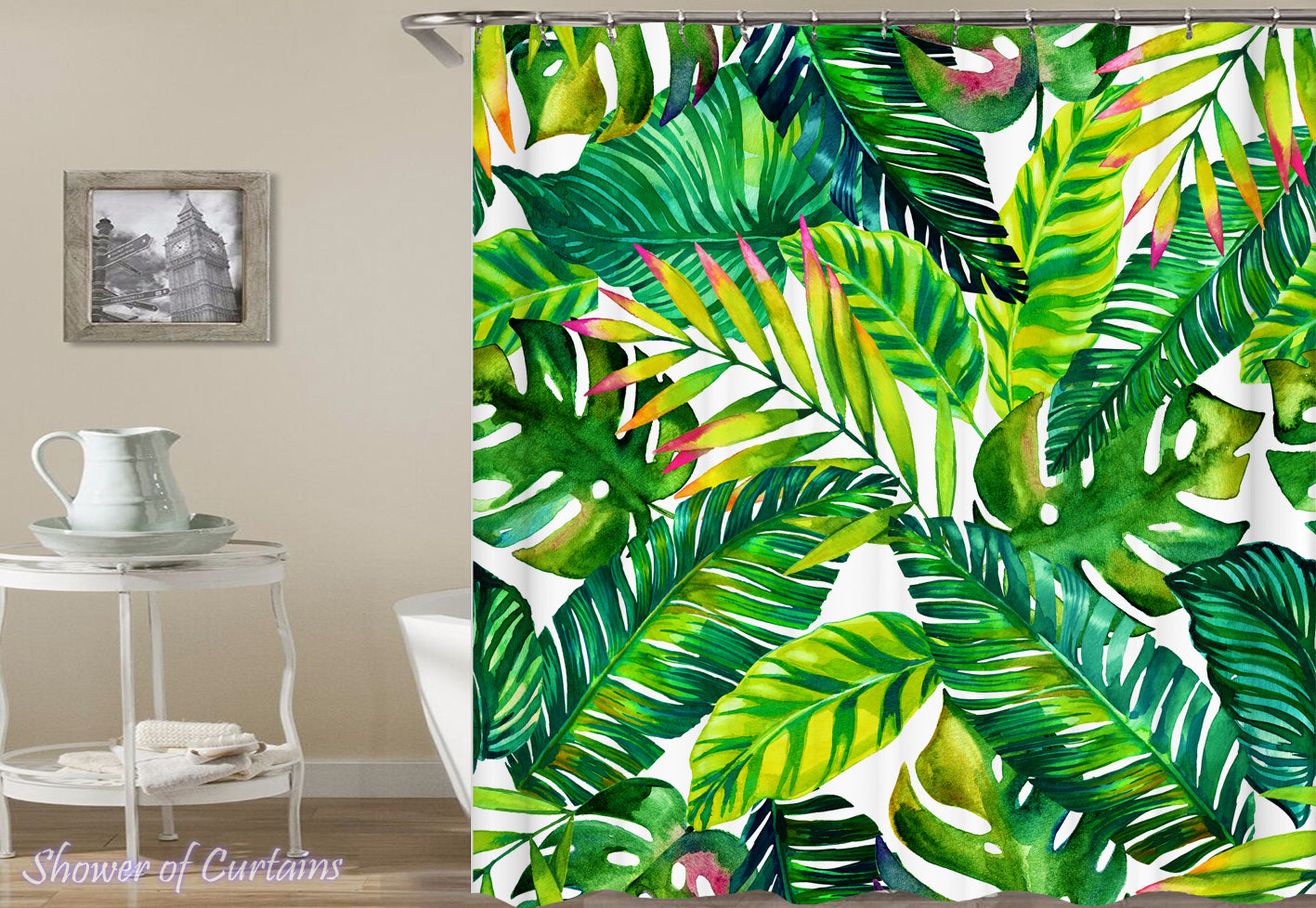 Shower Curtains | Tropical leaves – Shower of Curtains