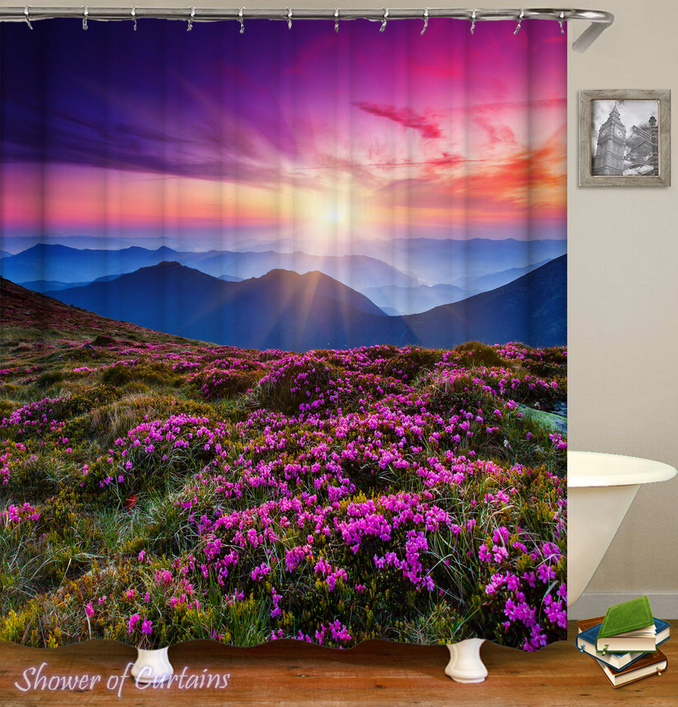 Shower Curtain of Violet Meadow