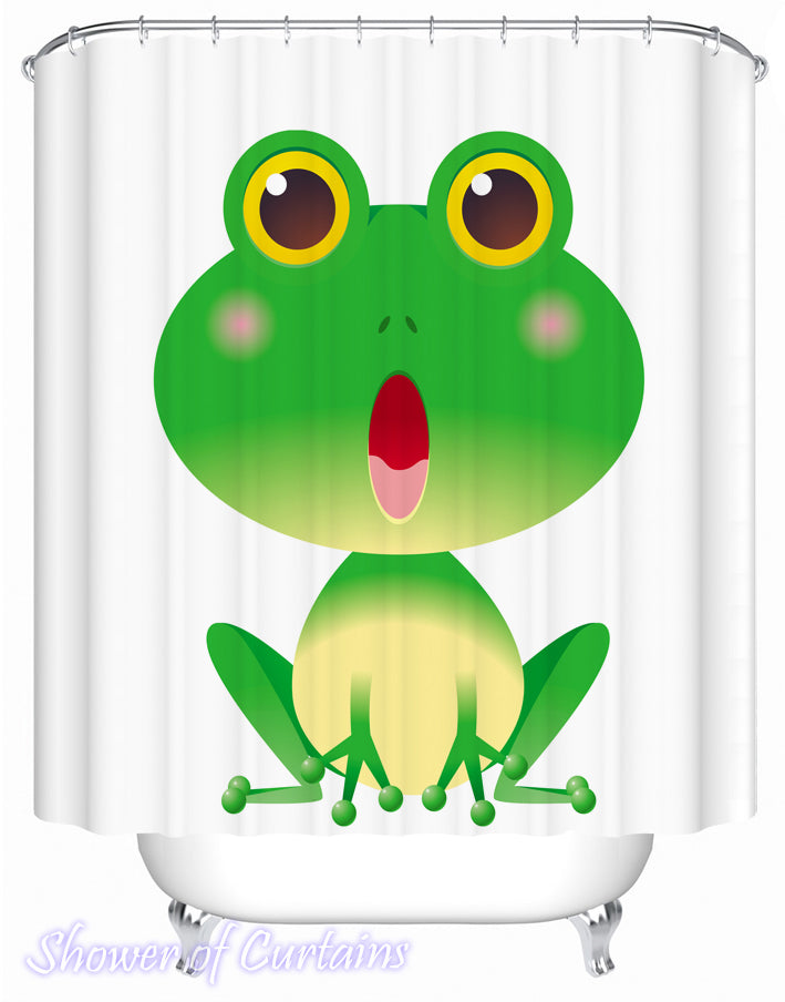 Shower Curtain of a Blushing Frog