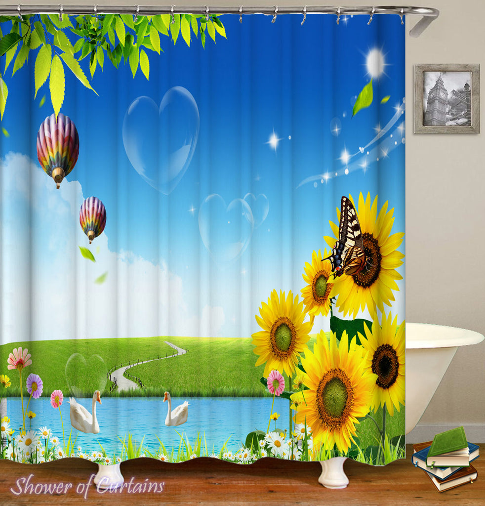 Shower Curtains Designs - A Beautiful Day