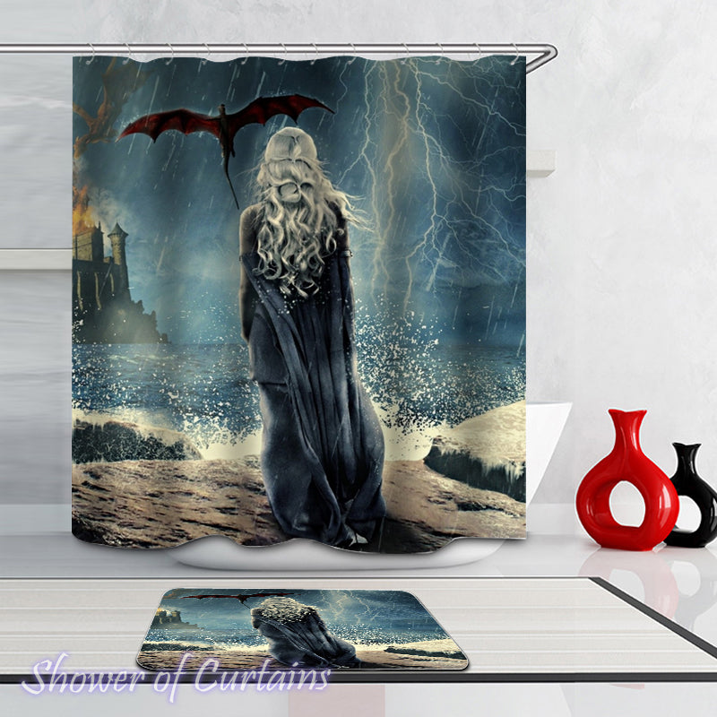 Shower curtain of Mother Of Dragons - Game of Thrones theme