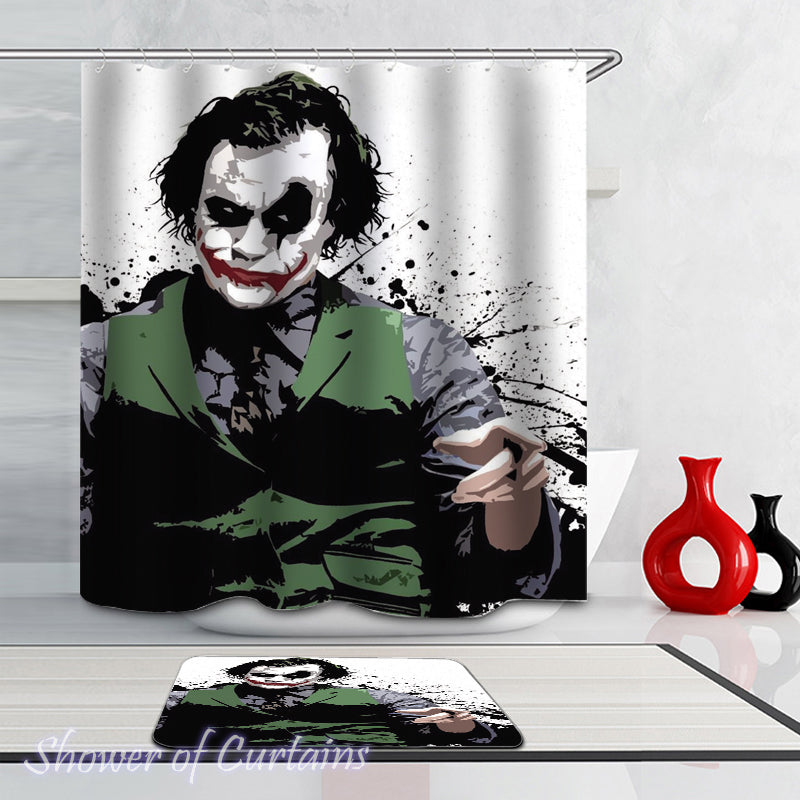 Shower curtain of The Joker - Heath Ledger