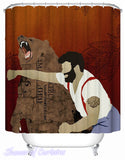 https://www.showerofcurtains.com/products/man-hitting-a-bear-shower-curtains