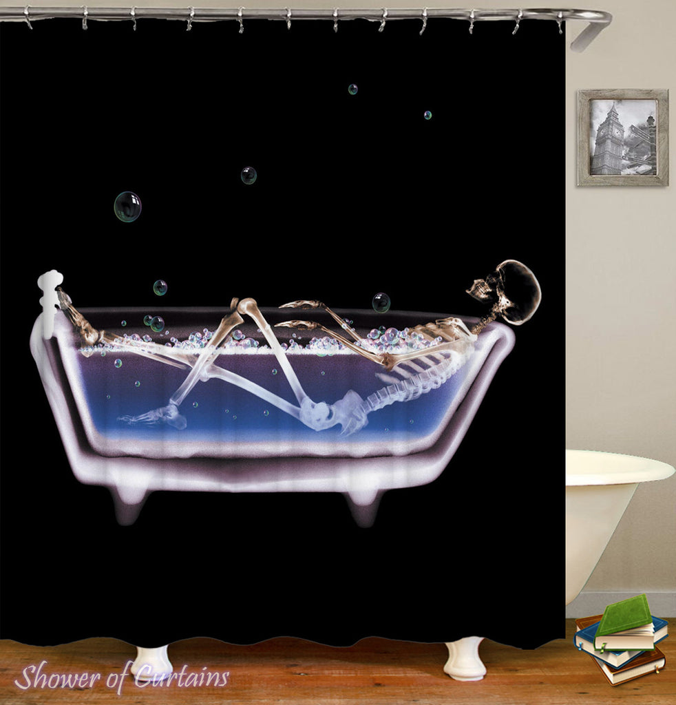 Skeleton Shower Curtain - Bath Time