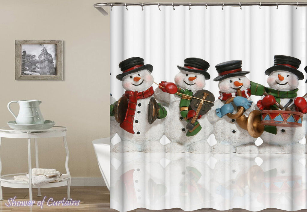 Snowman Shower Curtain - Snowman band