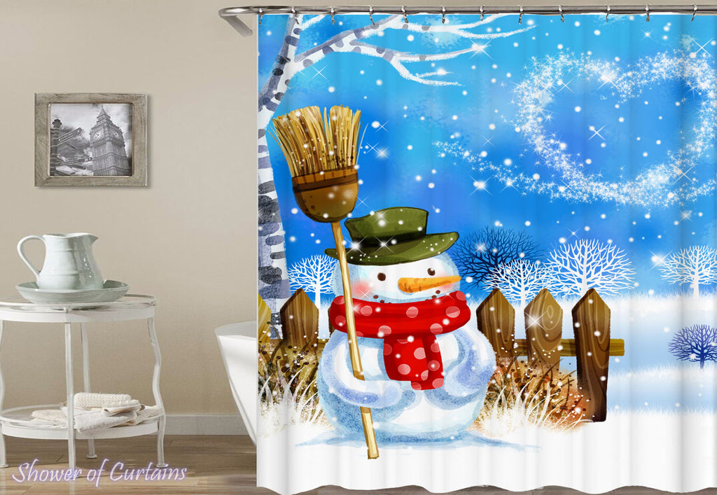 Snowman Shower Curtains presents Magical Christmas