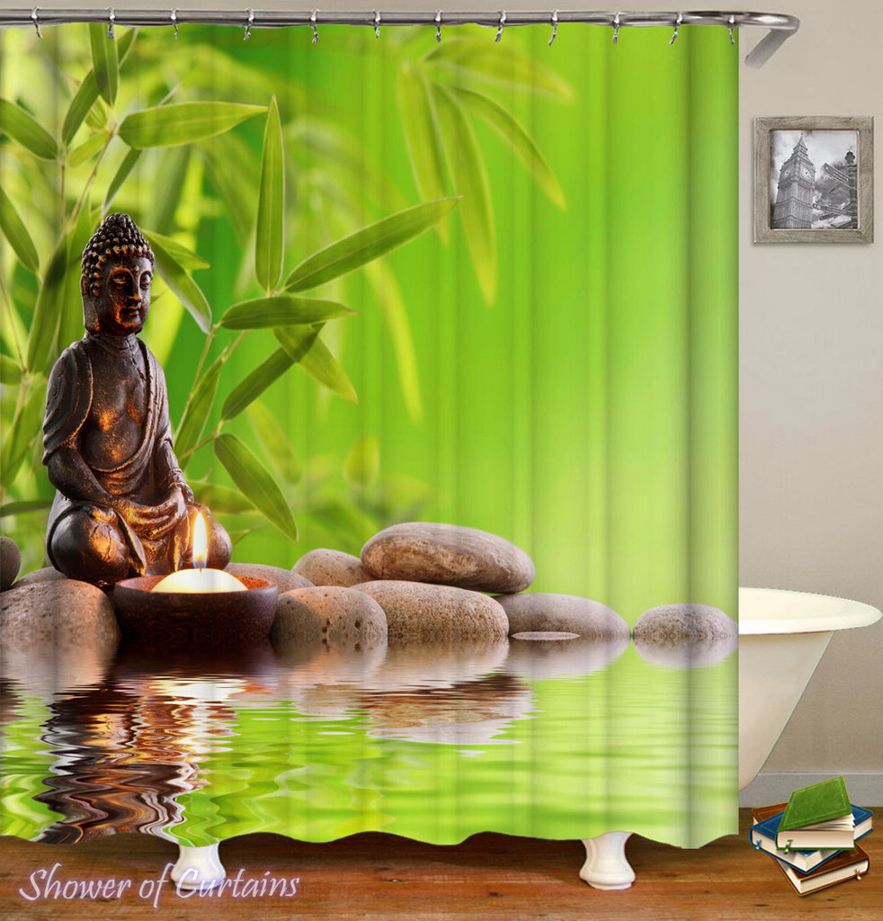 Spa Atmosphere Buddha Shower Curtain