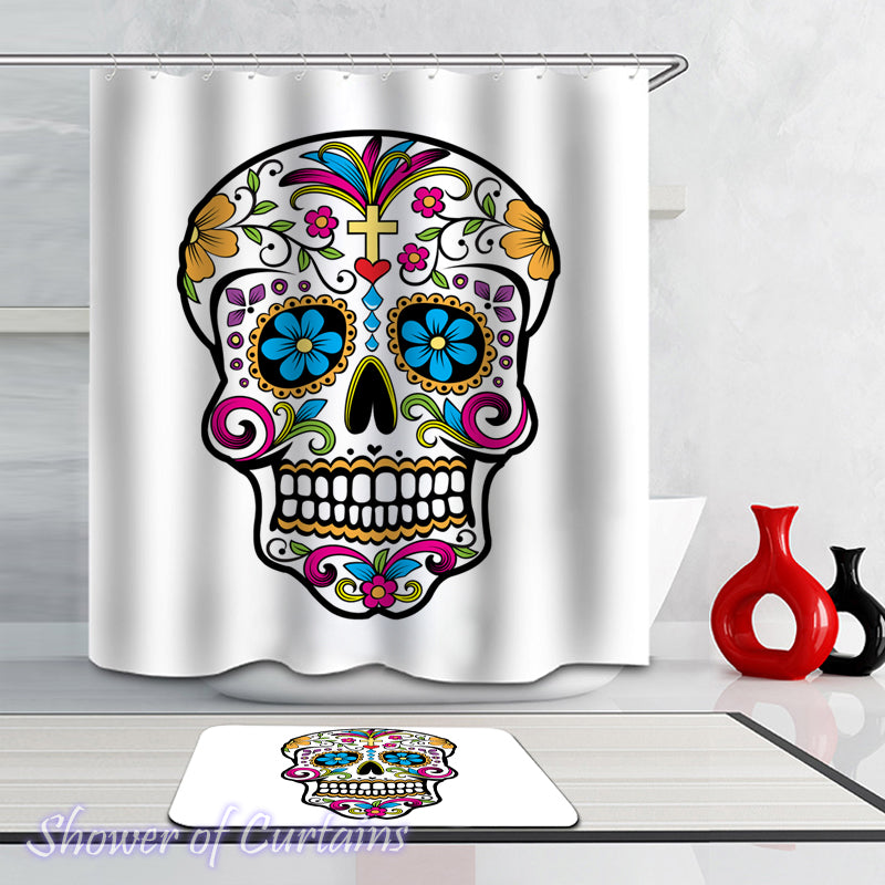 Shower Curtains | Sugar Skull – Shower of Curtains
