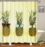 yellow pineapple shower curtains