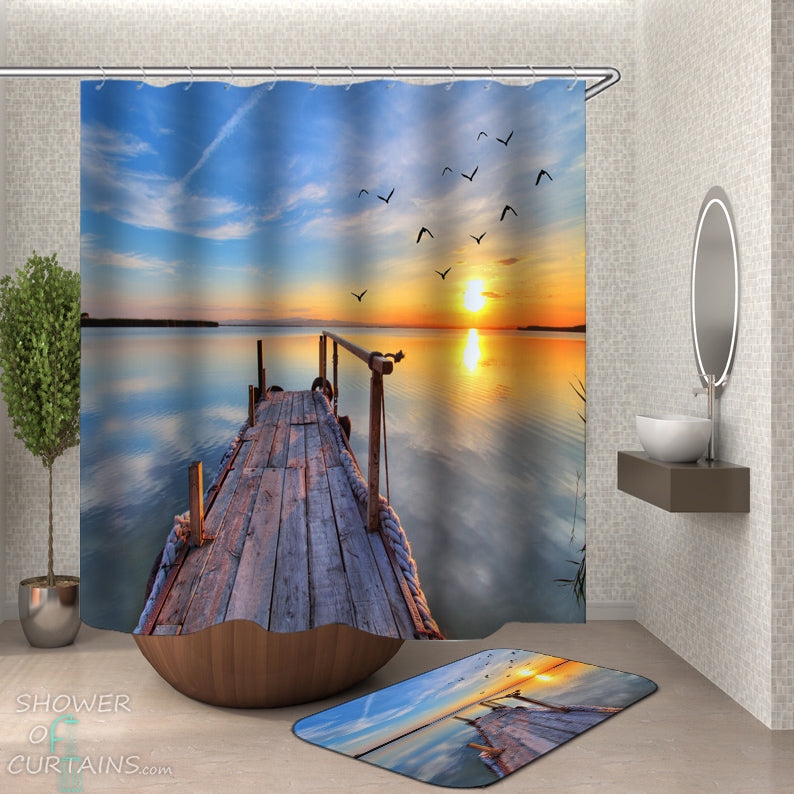 Sunset Ocean Shower Curtain