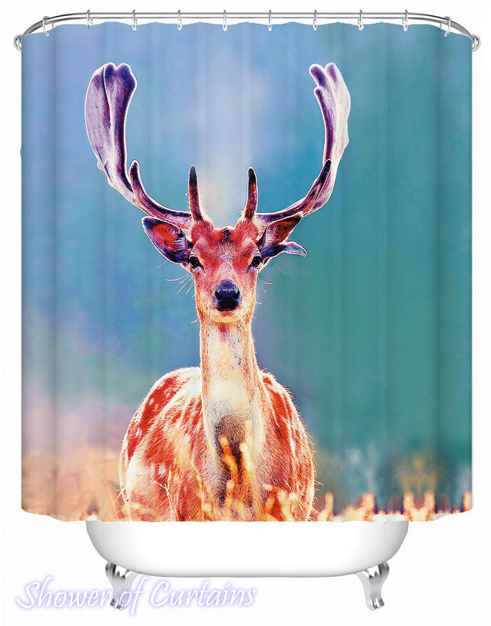 Sunshine Deer Shower Curtain