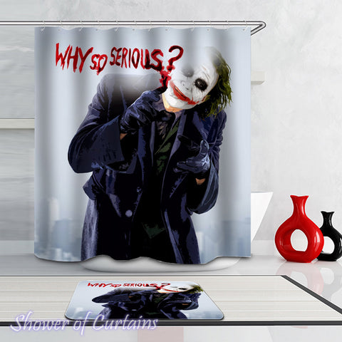 The Joker shower curtain - why so serious