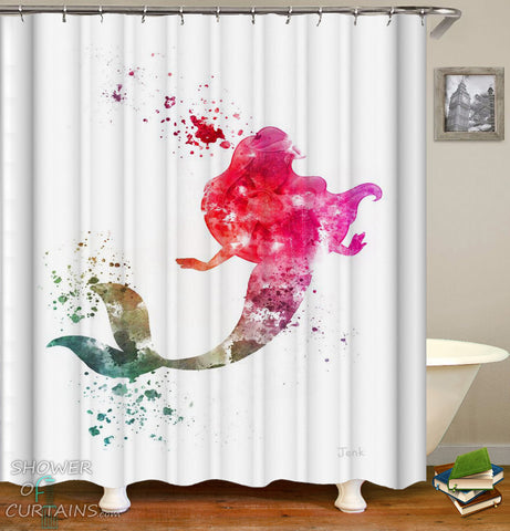 The Little Mermaid Shower Curtain - Colorful Splash Shower Curtains