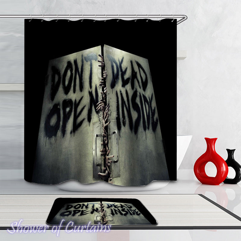 Themed shower curtains of The Walking Dead