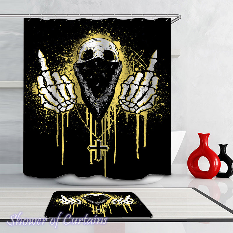 Skull Shower Curtain Collection | Shower of Curtains