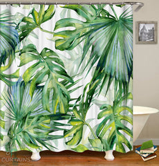 Green Spirit Shower Curtain