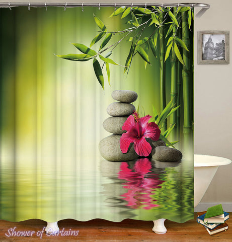 Tropical Relaxing Spa Shower Curtain