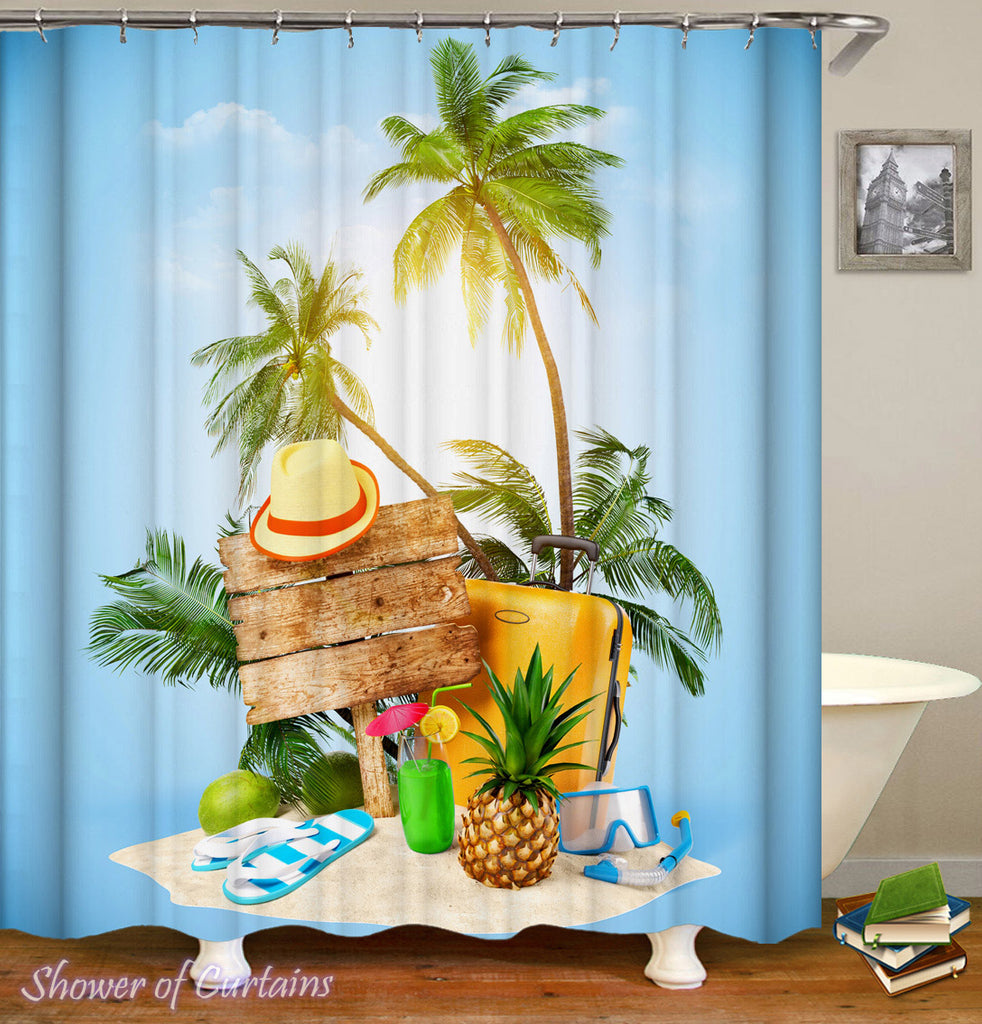 Tropical Shower Curtain of Tropical Vacation starter pack