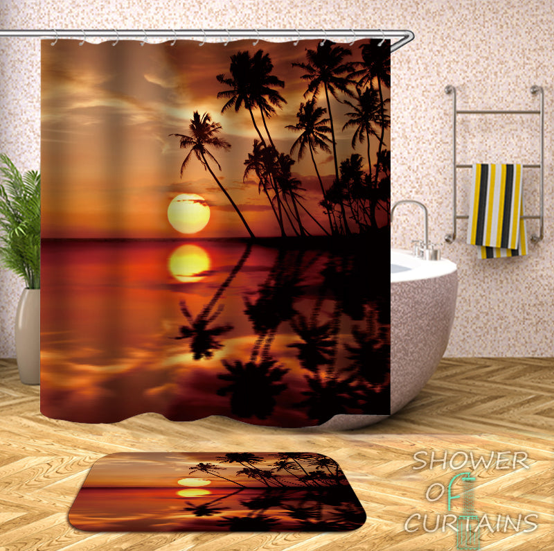 Tropical Shower Curtains - Tropical Twilight